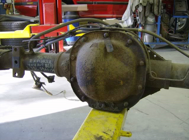 installing a ford explorer rear end into an s10
