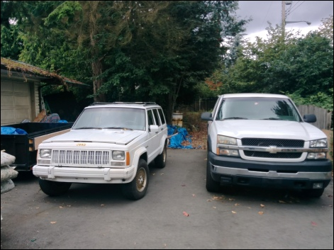 Cherokee and Chevy 2500